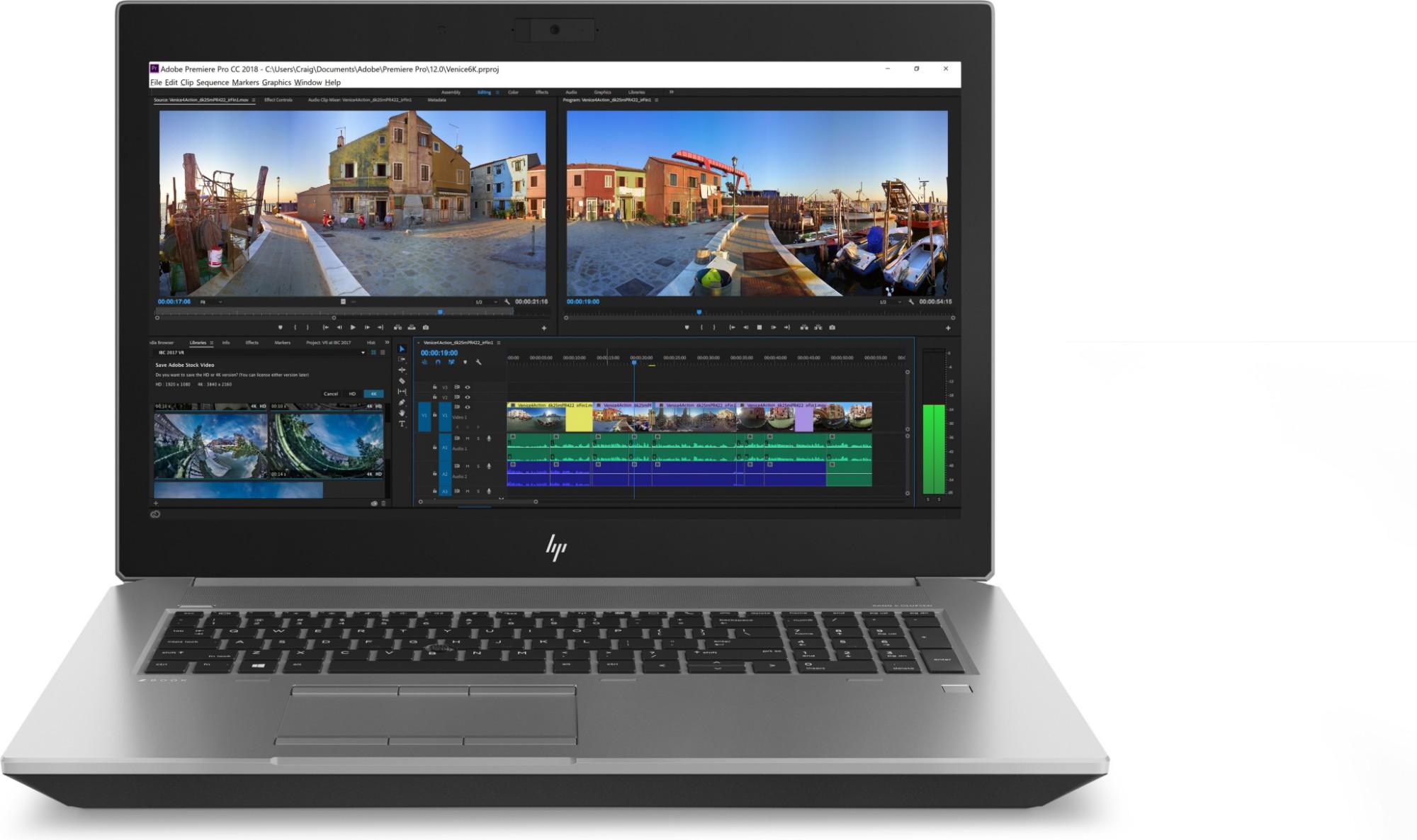 HP ZBook 17 G5 Black,Silver Mobile workstation 43 9 cm (17 3