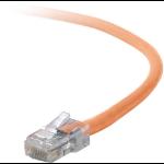 "Belkin Cat5e, 3ft, 1 x RJ-45, 1 x RJ-45, Orange networking cable 35.4"" (0.9 m)"