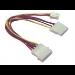 Microconnect Power 4pin - 3pin + 4pin
