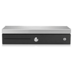 HP Flip Top Till with Locking Cover Black,Silver cash/ticket box