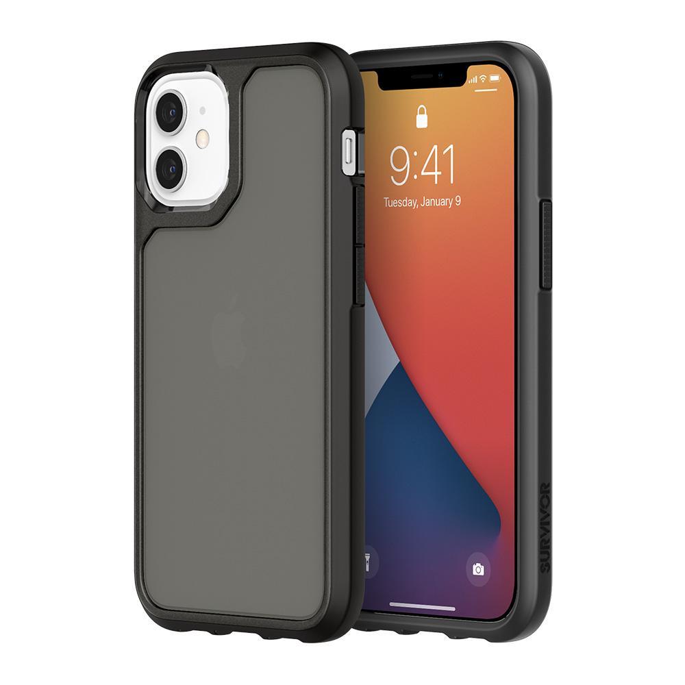 "Griffin Survivor Strong mobile phone case 13.7 cm (5.4"") Cover Black"