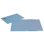 Q-CONNECT Q-CONNECT S BLUE CUT FOLDER 180G PK100