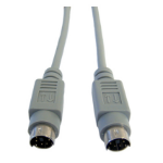 Cables Direct EX-100 PS/2 cable 3 m 6-p Mini-DIN Grey