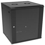 4XEM 4XRACK12U rack cabinet 12U Wall mounted rack Black