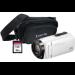 JVC GZ-R495 White 4GB Memory HD Quad Proof Camcorder Kit inc 32GB SD and Case