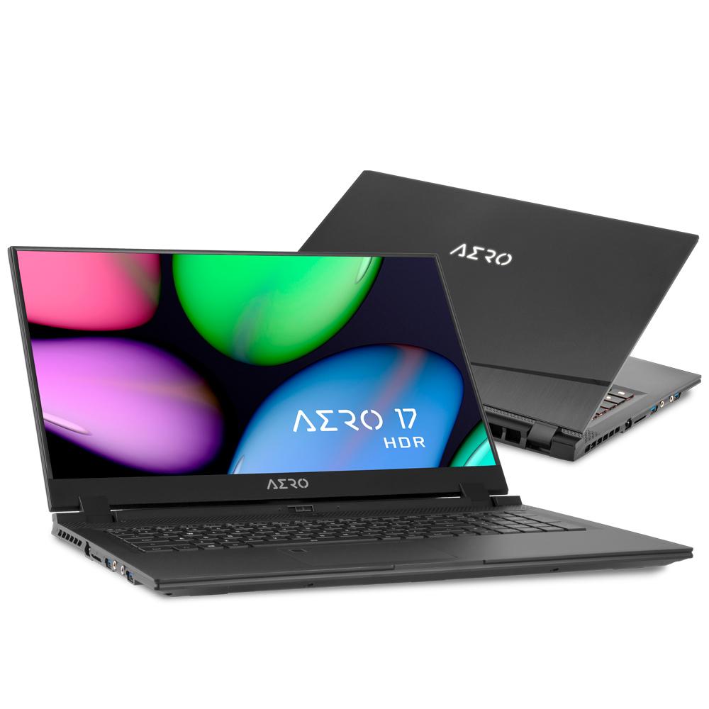 Gigabyte AERO 17 HDR YA-9UK4750SQ Black Notebook 43.9 cm (17.3