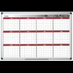 Bi-Office Magnetic annual Planner Alu Frame 900x600 mm DD