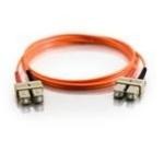 C2G 1m SC/SC LSZH Duplex 50/125 Multimode Fibre Patch Cable 1m Orange networking cable