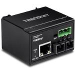 Trendnet TI-F10S30 200Mbit/s 1310nm Single-mode Black network media converter