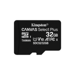 Kingston Technology Canvas Select Plus memory card 32 GB MicroSDHC Class 10 UHS-I SDCS2/32GB-3P1A