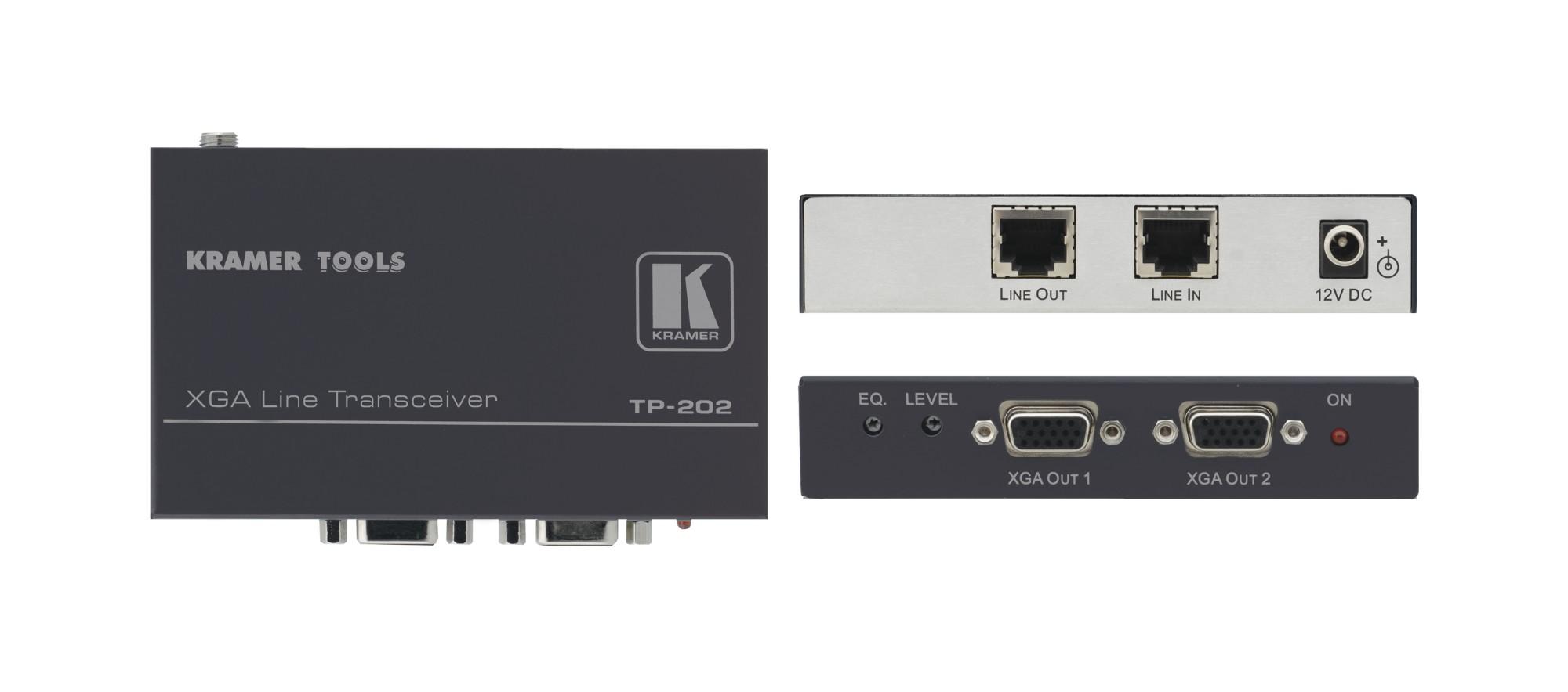 Kramer Electronics TP-202 AV transmitter Black AV extender