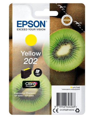 Epson C13T02F44010 (202) Ink cartridge yellow, 300 pages, 4ml