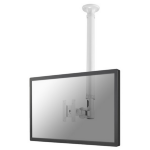 """Newstar TV/Monitor Ceiling Mount for 10""""-30"""" Screen, Height Adjustable - White"""