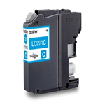 Brother LC-221C Ink cartridge cyan, 260 pages, 4ml LC221C