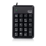 Adesso AKB-600HB numeric keypad USB Notebook Black