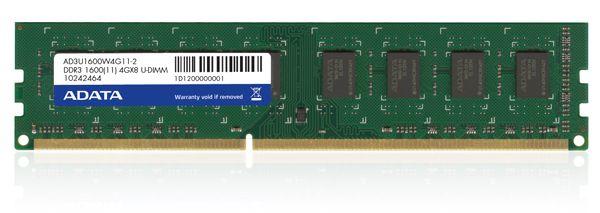 Premier Series - DDR3 - 4 GB - DIMM 240-pin - 1600 MHz / Pc3-12800 - Cl11 - 1.5 V - Unbuffered