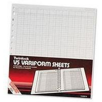 Twinlock V8 Variform 10 Column Cash Sheets Ref 75982 [Pack 75]