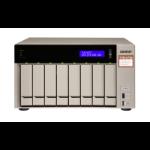 QNAP TVS-873e Ethernet LAN Tower Black,Bronze NAS TVS-873E-4G/64TB-EXOS