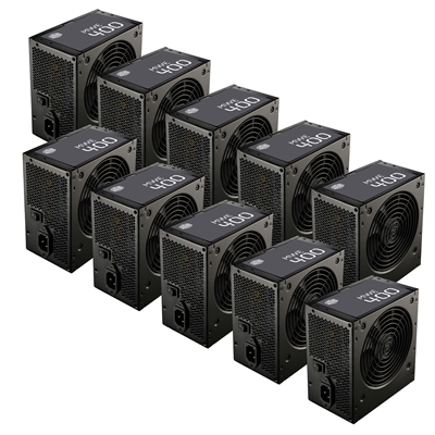 Cooler Master Box of 10 Cooler Master MWE 400 400W 120mm HDB Fan 80 PLUS Certified OEM System Builde