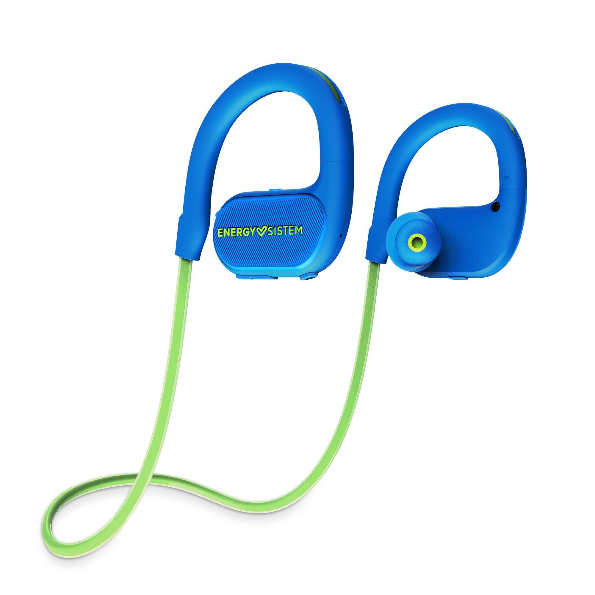Energy Sistem BT Running 2 Neon Auriculares gancho de oreja, Banda para cuello Azul, Verde