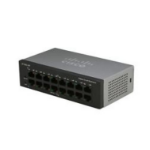 Cisco Small Business SF110D-16HP Unmanaged network switch L2 Fast Ethernet (10/100) Power over Ethernet (PoE) Black