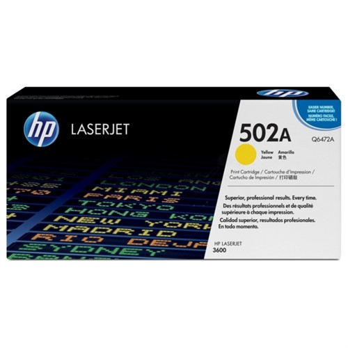 HP Toner yellow 4000sheets for CLJ3600 - Q6472A