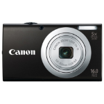 "Canon PowerShot A2400 IS Compact camera 16MP 1/2.3"" CCD 4608 x 3456pixels Black"