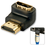 Lindy HDMI 90° Black