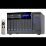 QNAP TVS-1282 Ethernet Torre Negro NAS