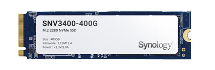 Synology SNV3400-400G unidad de estado sólido M.2 400 GB PCI Express 3.0 NVMe