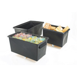 FSMISC TAPERED RECYCLING CONTAINER BLK