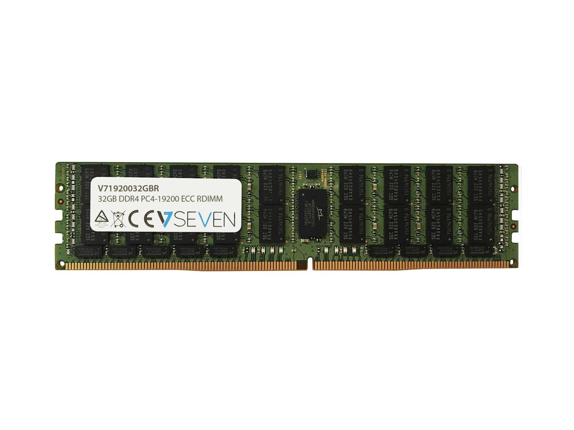 V7 V71920032GBR geheugenmodule 32 GB DDR4 2400 MHz ECC