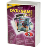 FELLOWES DVD REPLACEMENT CASE CLEAR FROST PACK 5