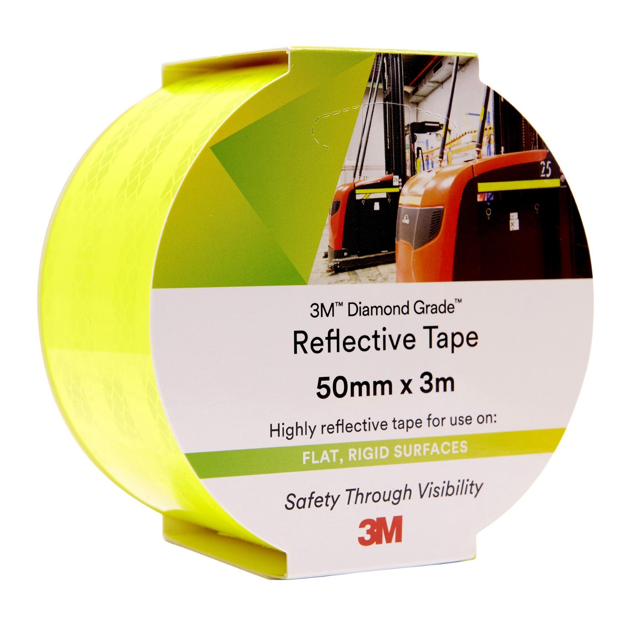 3M REFLECTIVE TAPE 3M 50MMX3M 983-23 DIAMOND GRADE FLURO YELLOW/GREEN ( EACH )