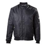 ASSASSIN'S CREED Men's Silver Crest Logo Bomber Jacket, Medium, Black (BR130100ASC-M)