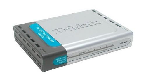 D-Link 5-Port 10/100Mbps Switch for SOHO