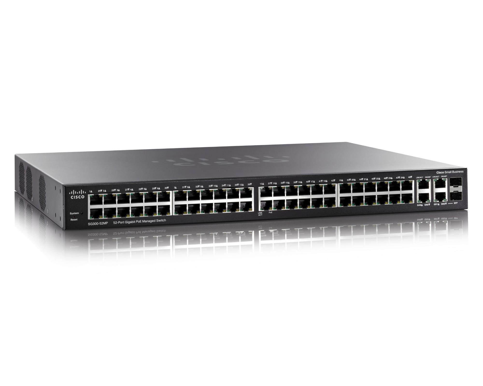 Cisco Small Business SG300-52MP Managed L3 Gigabit Ethernet (10/100/1000) Zwart Power over Ethernet (PoE)