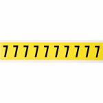 Brady 3430-7 self-adhesive label Rectangle Removable Black, Yellow 10 pc(s)