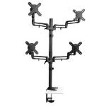 "Tripp Lite DDR1327SQFC Quad Full Motion Flex Arm Desk Clamp for 13"" to 27"" Monitors"
