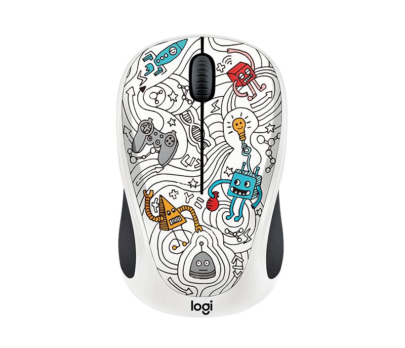 Logitech Techie White RF Wireless Optical 1000DPI Ambidextrous Multi mice