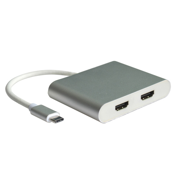 ROLINE 12.02.1132 CABLE INTERFACE/GENDER ADAPTER USB-C 3.1 2X HDMI SILVER,WHITE