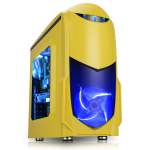GameMax Nero Yellow MATX Case with Front 12cm Blue LED