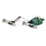 StarTech.com 2-port PCI Express RS232 Serial Adapter Card - PCIe RS232 Serial Host Controller Card - PCIe to Serial DB9 - 16950 UART - Low Profile Expansion Card - Windows, macOS, Linux