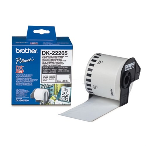 Brother DK-22205 P-Touch Etikettes, 62mm x 30,48m
