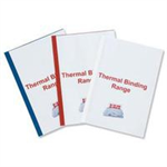 GBC Standard Thermal Binding Covers 6mm White (100)