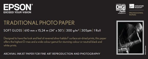 """Epson Traditional Photo Paper, 24"""" x 15 m"""