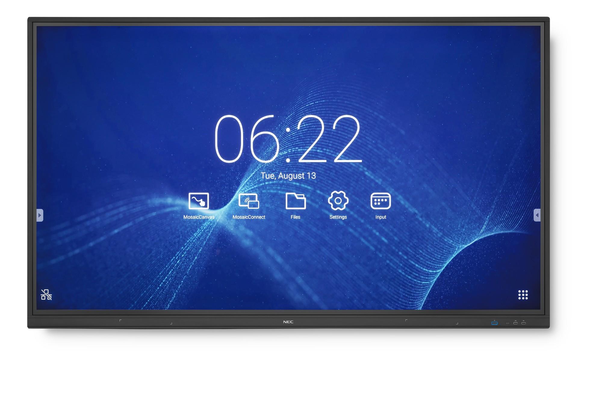 "NEC MultiSync CB751Q 190,5 cm (75"") LED 4K Ultra HD Pantalla táctil Panel plano interactivo Negro"
