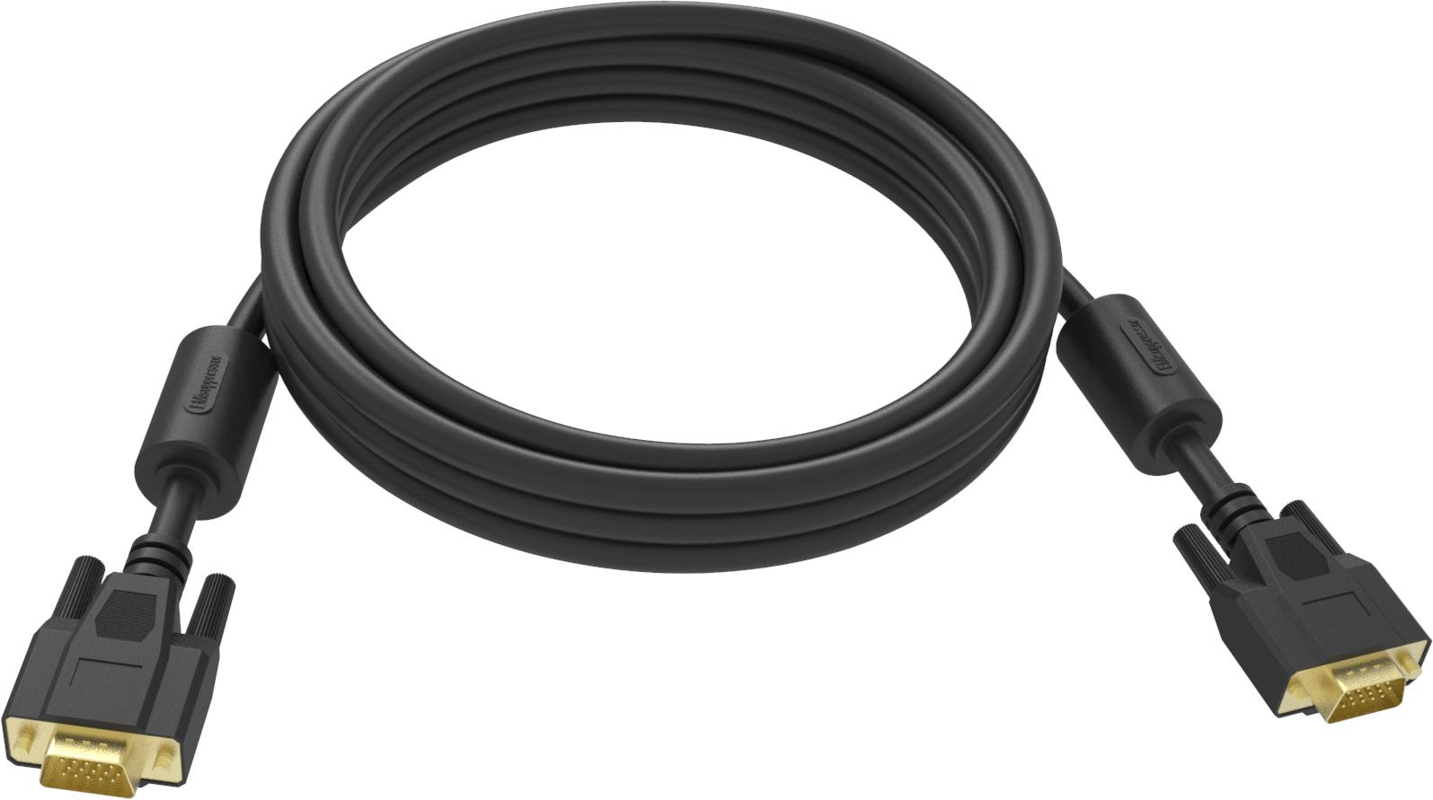 Vision TC 1MVGAP/BL cable VGA 1 m VGA (D-Sub) Negro