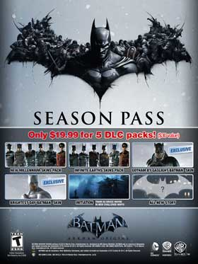 Nexway Batman Arkham Origins - Season Pass Video game downloadable content (DLC) PC Español