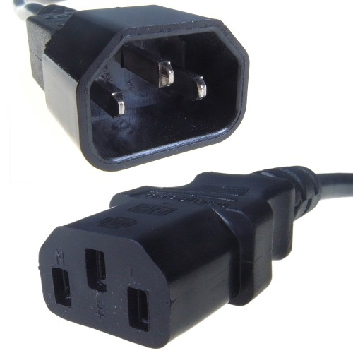 Connekt Gear 0.5m IEC C14 M / IEC C13 F power cable Black C13 coupler C14 coupler